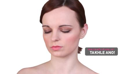 Profesionální make-up - oči daleko od sebe